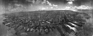 Photo of San Francisco after 1906 earthquake. Taken by George R. Lawrence in 1906 (public domain)